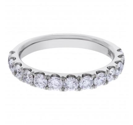Semi Eternity Diamond ring in 18k white gold