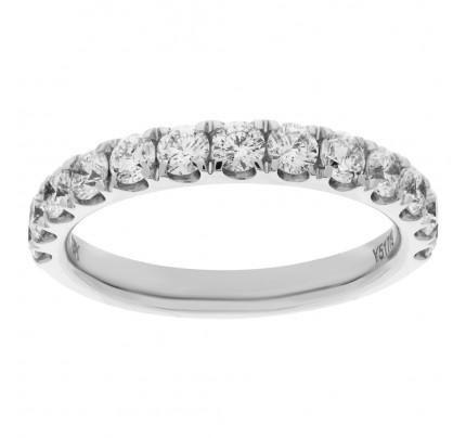 Semi Eternity ring in 18k white gold