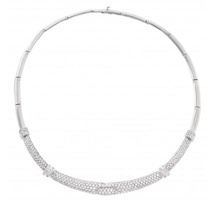 Fabulous diamond necklace in platinum