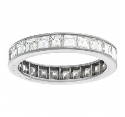 Platinum eternity band with 2.88 carats in diamonds