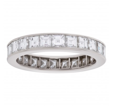 Platinum eternity band with approximately 3.12 carats in diamonds