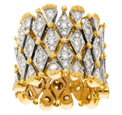 18k diamond band one inch thick