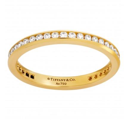 "Tiffany & Co. ""Soleste"" full eternity band with diamonds in 18k"