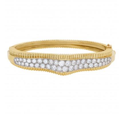 Diamond bracelet in 18k yellow gold