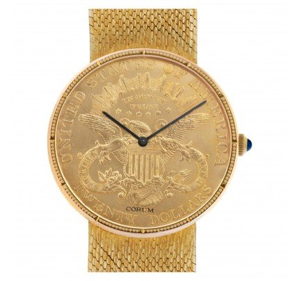 Corum gold coin 35mm 8890