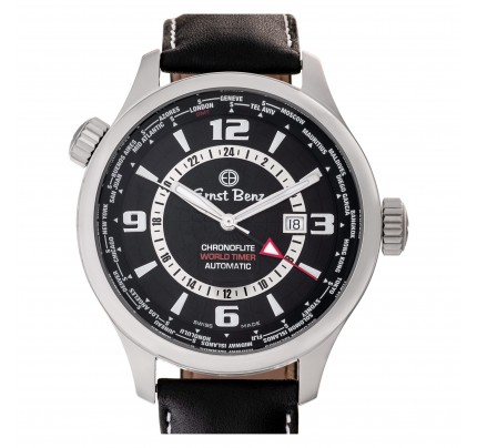 Unused Ernst Benz Chronoflite World Timer 47mm 10800