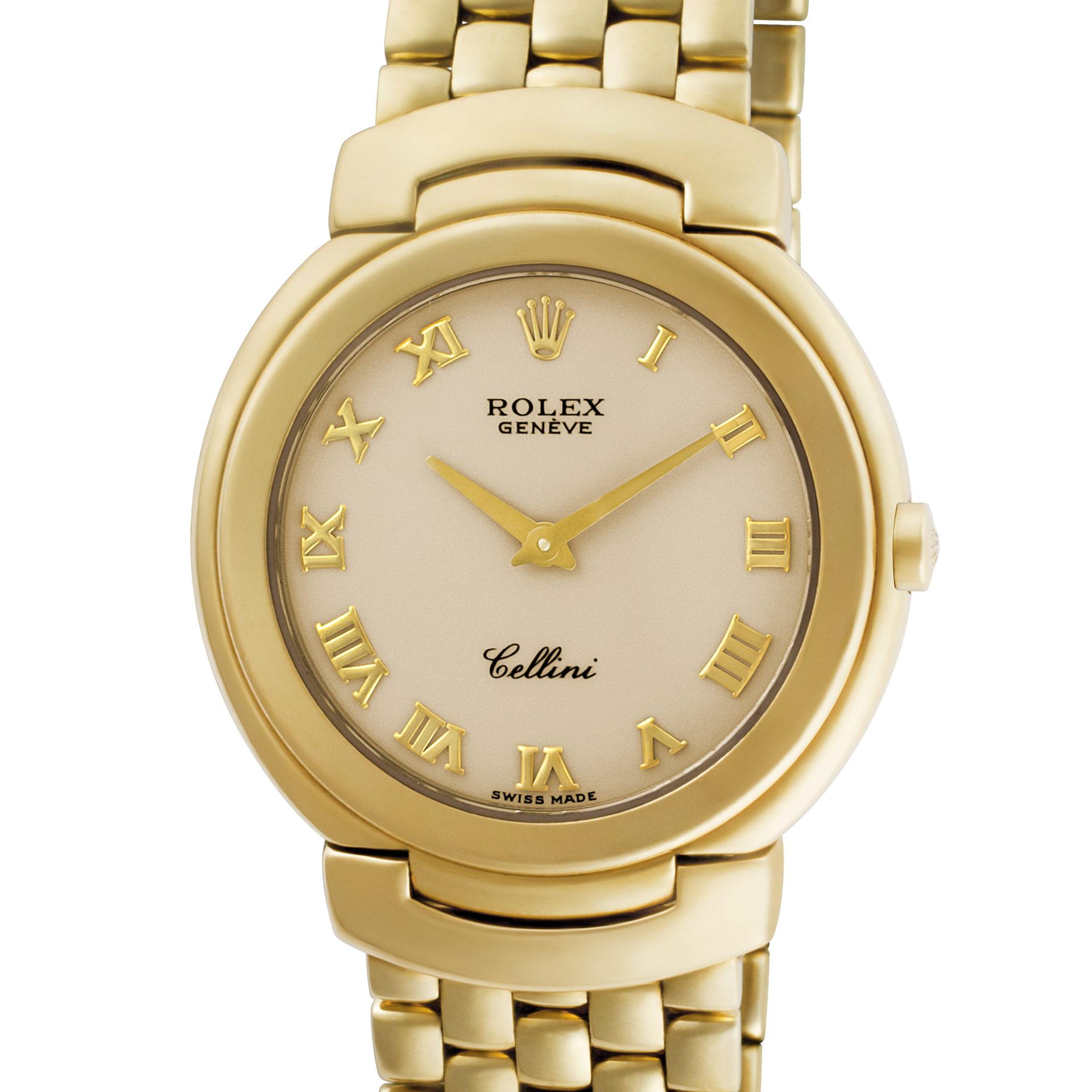 6622 Rolex WatchEbay Dial Cellini 18k Cream Quartz 30mm USzMpV