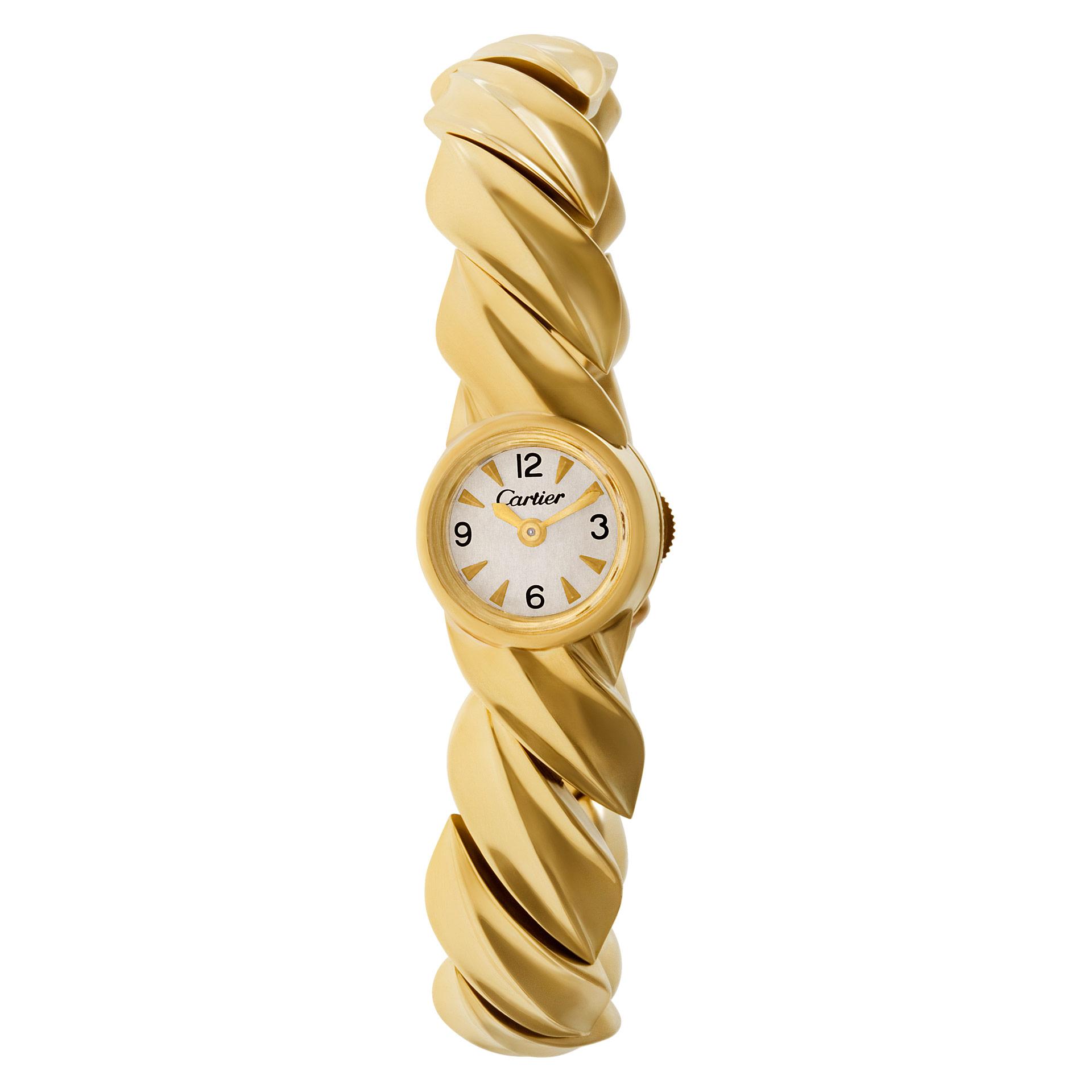 8310d7a6411 Detalhes sobre Vintage Cartier Classic bracelet watch in 18k Yg