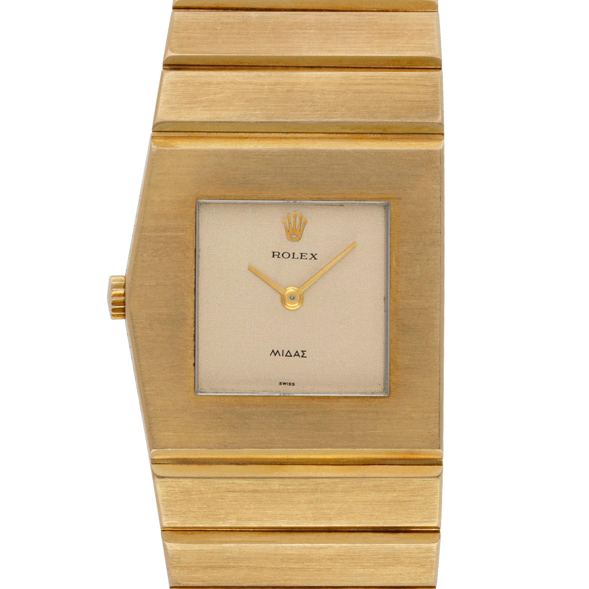 Rolex King Midas 9630 18k Gold dial 27mm Manual watch