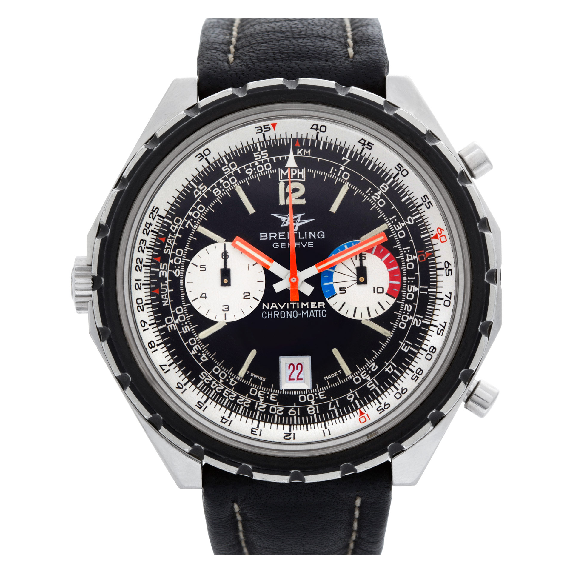 breitling navitimer 1317421 stainless steel black dial 47mm automatic watch ebay. Black Bedroom Furniture Sets. Home Design Ideas