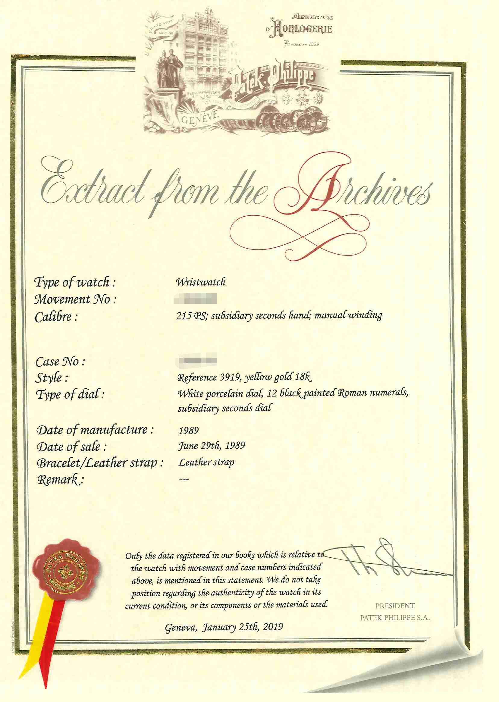 GIA Certificate