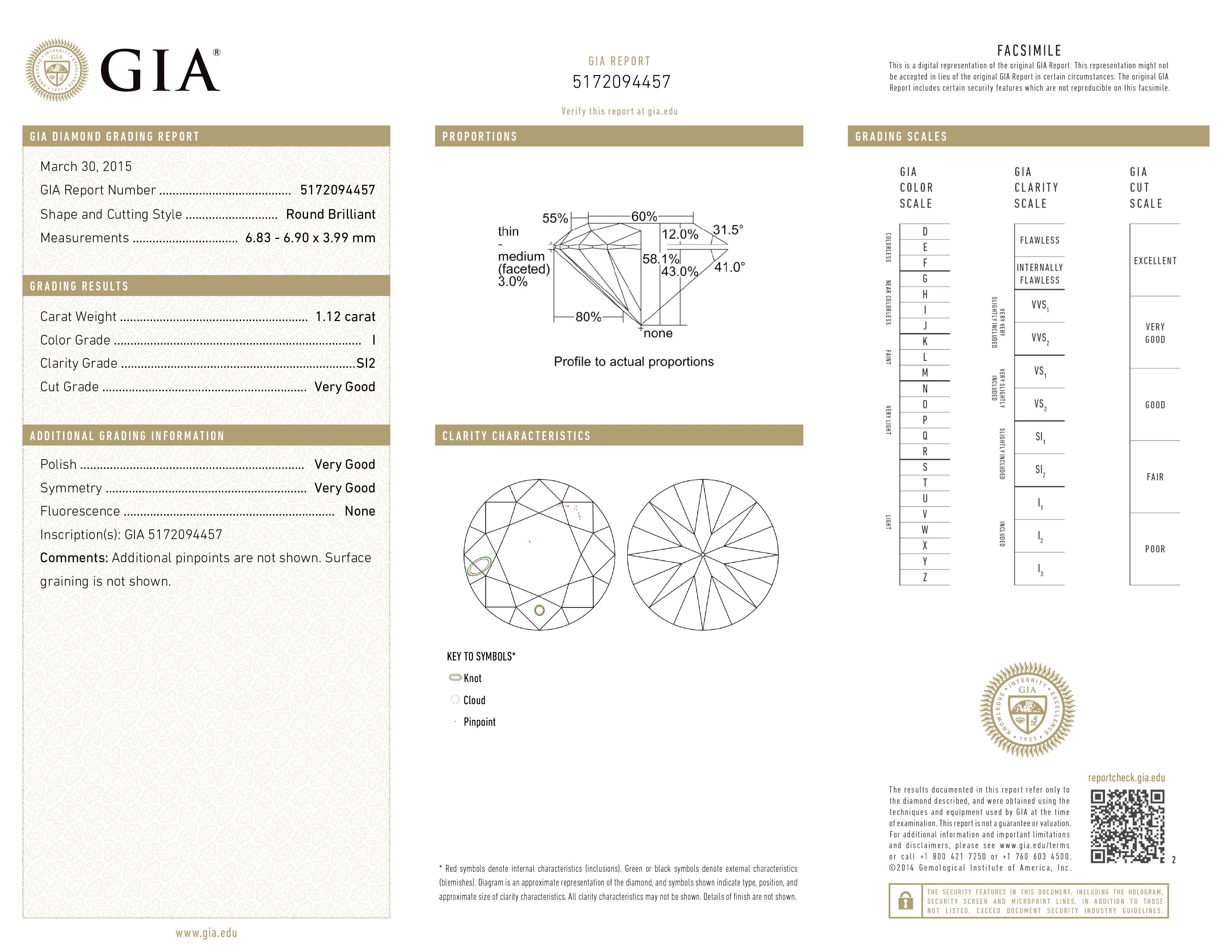 Gia certified loose diamonds for sale buy real diamonds gray a gia certified round diamond 112 cts i color si2 clarity nvjuhfo Images