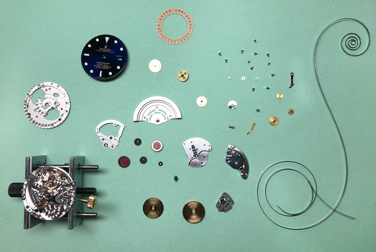 Rolex Submariner watch repair movement